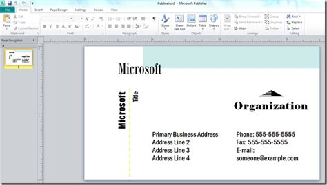 micorsoft office business card template how to make a business card with microsoft publisher
