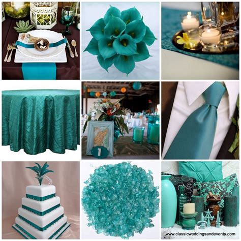 Teal Table L Teal Weddings On Teal Teal Table And Peacock Teal Table Settings Asuntospublicos