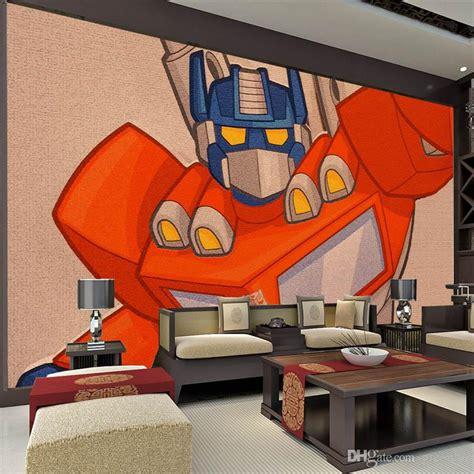 transformers bedroom decor comics transformers photo wallpaper 3d embossment