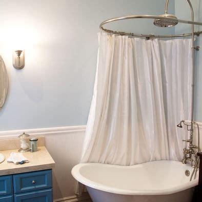 circular shower curtains circular shower rail another details pinterest