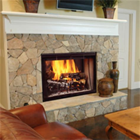 majestic see thru wood fireplace adams stove company