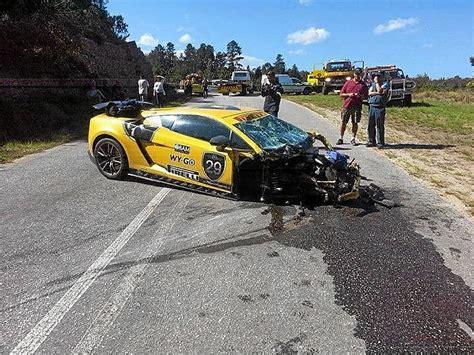 Yellow Lamborghini Crash Horror Lamborghini Crash Leads To Utations The Citizen