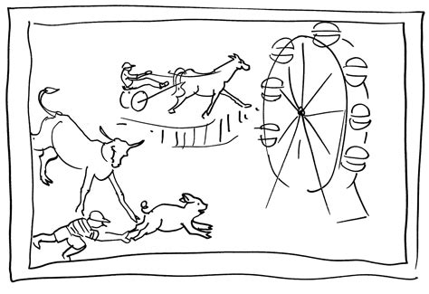 country fair coloring pages sketch coloring page
