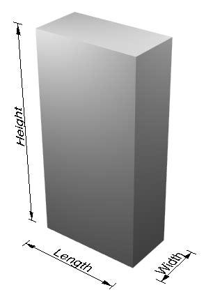 diagram length width height height