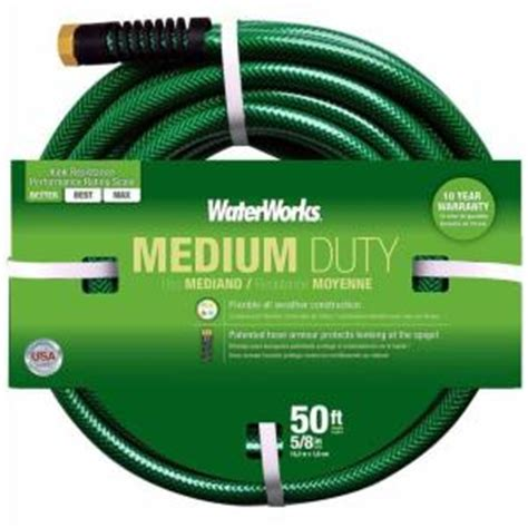 waterworks 5 8 in dia x 50 ft medium duty water hose