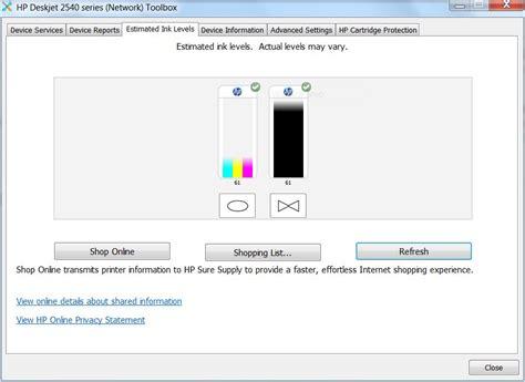 Hp Desk Jet 2542 Solved Misreading Ink Levels Hp Support Forum 5344556