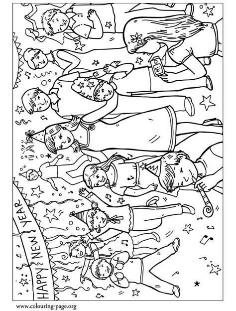 New Year Celebration Coloring Page With Coloring Pages For Celebration Coloring Pages