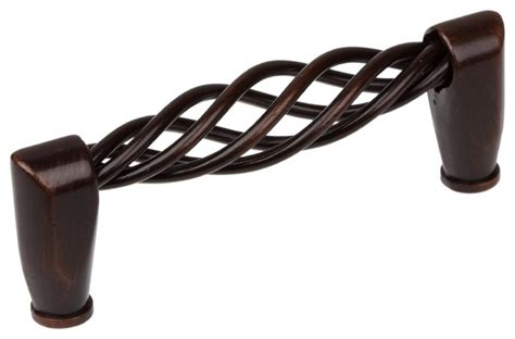 oil rubbed bronze birdcage cabinet pulls gliderite 3 3 4 quot birdcage pull oil rubbed bronze twisted