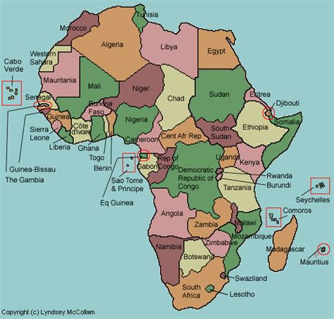 africa map with country name names of all the countries wow image