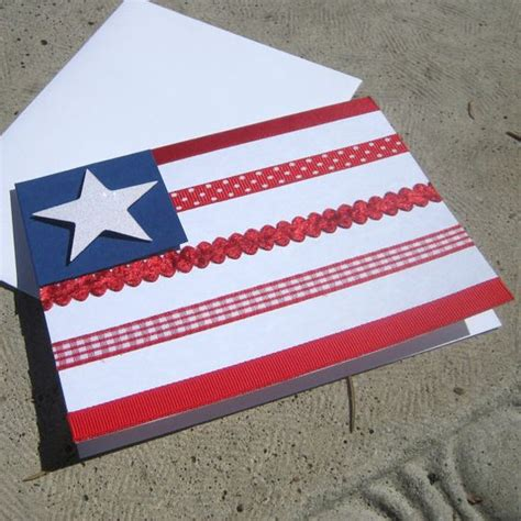 Independence Day Handmade Cards - patriotic flags and flags on