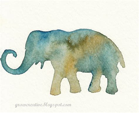 water color animals grow creative stenciled watercolors tutorial