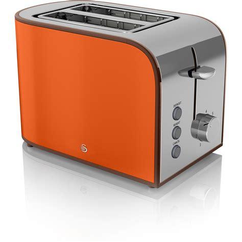 Best Retro Toaster Swan St17020on 2 Slice Retro Toaster Orange Iwoot