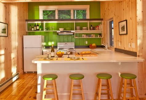 awesome kitchen design in soft green color home style