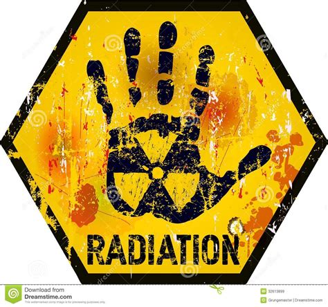 nuclear radiation stock vector image of forbidden atomic