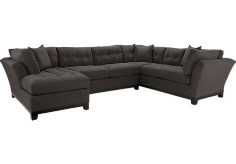 rooms to go metropolis sectional cindy crawford metropolis slate 3pc sectional living