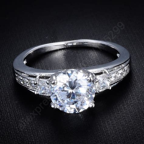 2016 luxury shining cz rings 925 sterling