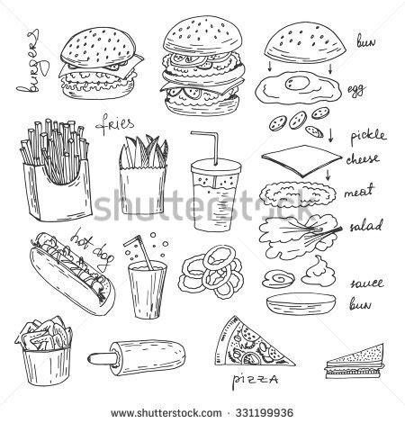 fast food doodle god zvonkova s portfolio on