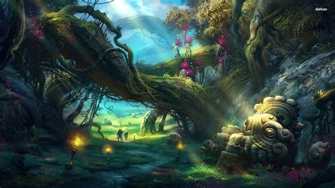 mystical a fantasy enchanted forest backgrounds wallpaper cave