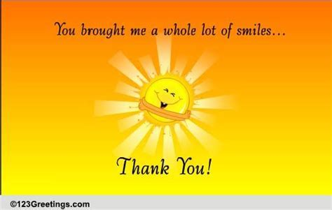 Thank You For The Smiles  Free Stay in Touch eCards