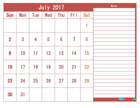 printable monthly calendar 2017 pdf july 2017 printable calendar template as pdf 2018 2019
