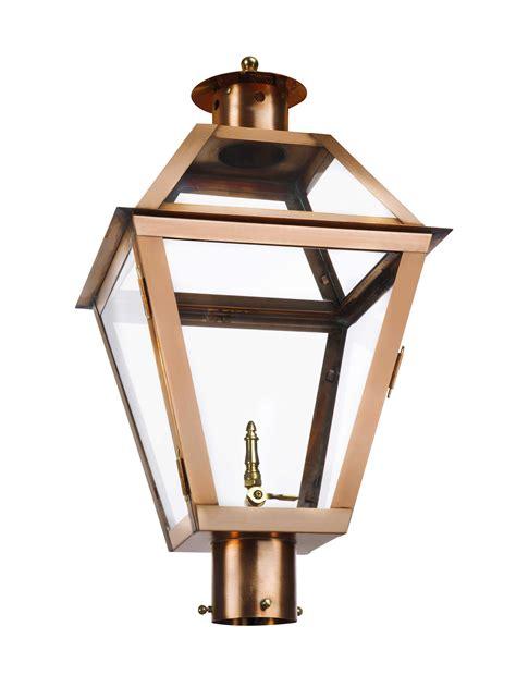 copper l post lantern the charleston collection ch 30 copper post light