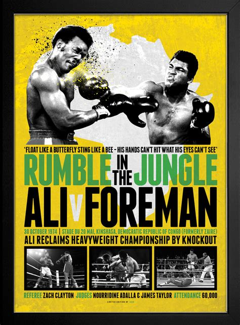 rumble in the jungle muhammad ali rumble in the jungle framed print great daily deals at australia s favourite