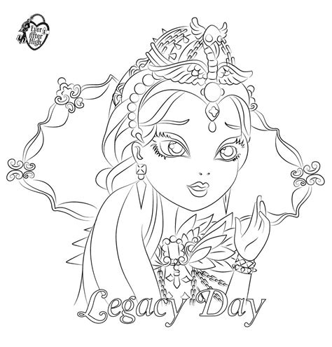 ever after high pet coloring pages 13 dessins de coloriage ever after high raven queen 224 imprimer