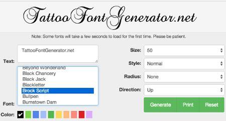tattoo font generator tattoo lettering