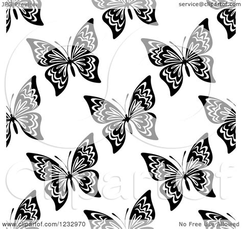 black and white butterfly pattern clipart of a seamless black and white butterfly background