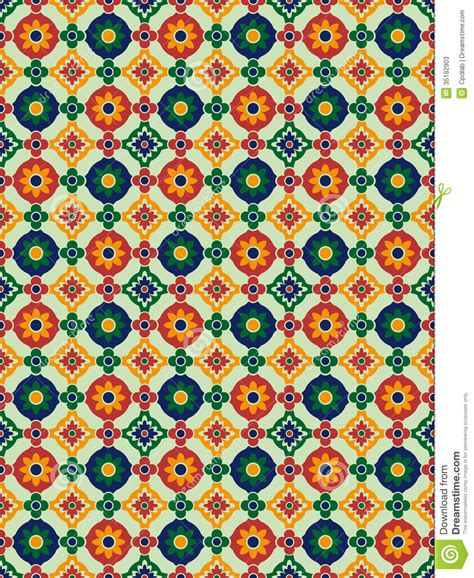pattern en espanol spanish mosaic stock photos image 35182903