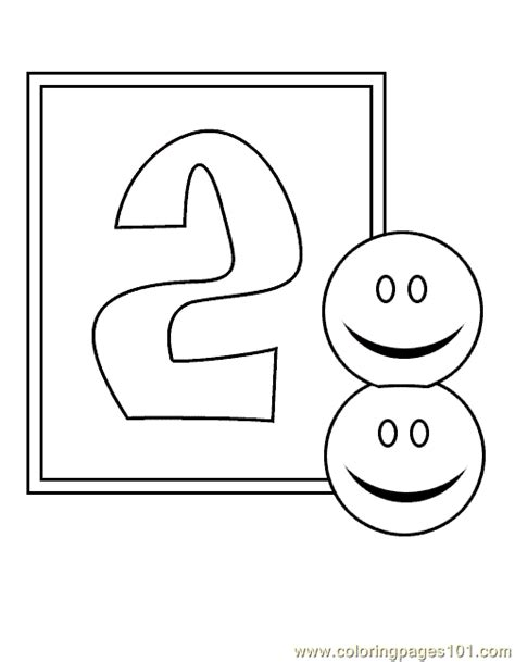 coloring page number 2 coloring pages numbers 2 coloring pages 7 education