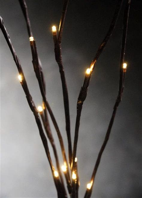 led white lights on brown branches 39 quot battery operated 6