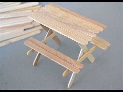 table and stick how to a popsicle stick picnic table