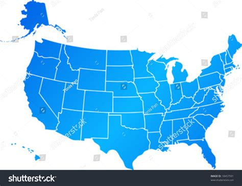 map of united states including alaska vector clip map of united states of america usa with