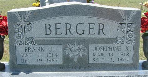 Mclennan County Marriage Records Josephine K Redden Berger 1912 1970 Find A Grave Memorial