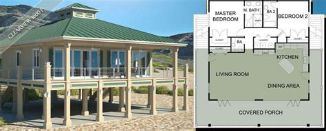 Narrow Floor Plans For Houses raised beach house plans beach house plans on pilings