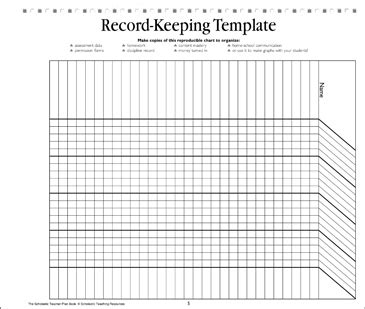 design html form for keeping student record record keeping template teacher resource printable