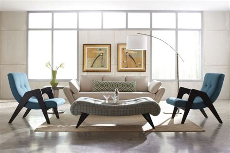 Before & After: Mid Century Modern Living Room Design Online   Decorilla