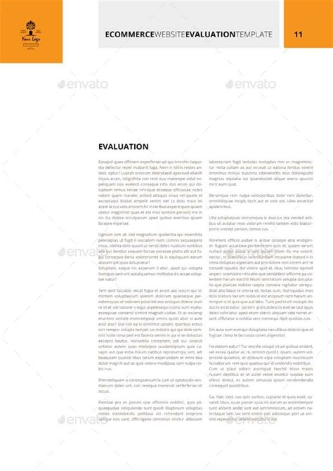 ecommerce website evaluation template by keboto graphicriver