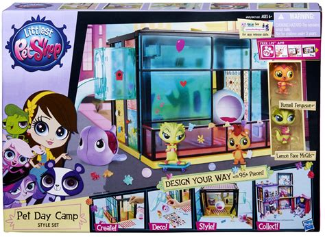 Littlest Pet Shop Wall Stickers pet day camp playset style set littlest pet shop hasbro toys