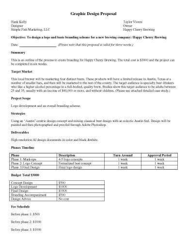 design cost proposal 32 sle proposal templates in microsoft word
