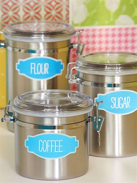 labels for kitchen canisters diy kitchen storage ideas