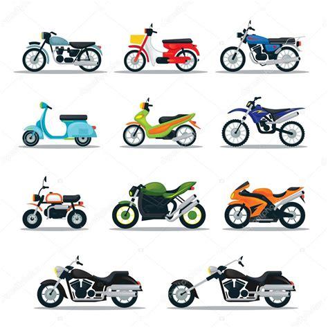 types of motocross motorrad typen objekte icons set stockvektor 169 muchmania