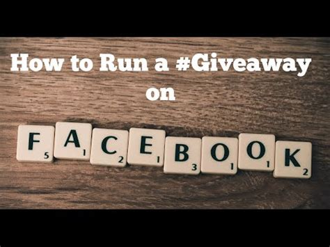 How To Run A Facebook Giveaway - how to run a giveaway on facebook youtube