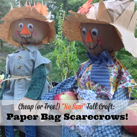 cheap and easy crafts cheap and easy fall craft diy paper bag scarecrows the