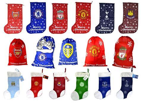 official football club christmas xmas stockings gift