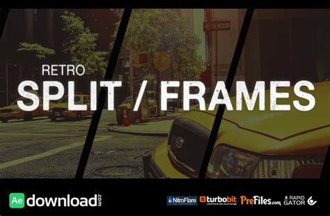 Videohive Retro Split Frames Slideshow Free Download Free After Effects Template Videohive Split Layer After Effects Template