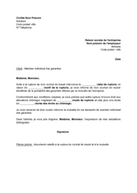 Modèle De Lettre D Information Exemple Gratuit De Lettre Information 224 Employeur Souhait B 233 N 233 Ficier Maintien Individuel