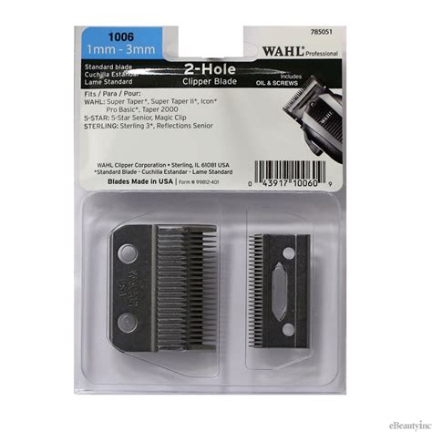 wahl super taper blade 2 wahl 2 hole replacement blade for super taper icon senior