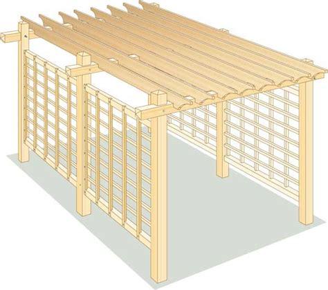 pavillon 2x4 how to build a pergola for backyard shade diy